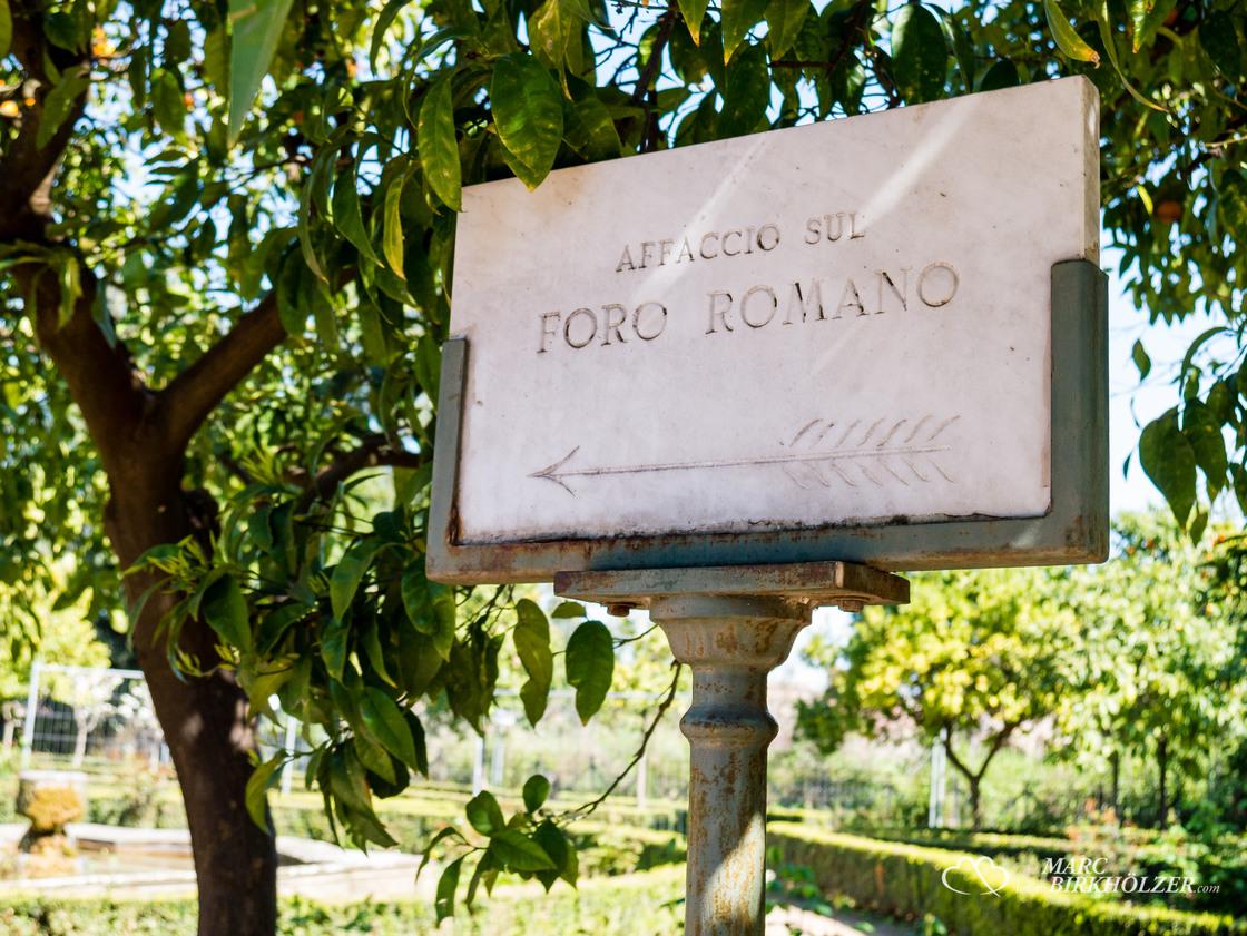Hier geht's zum Aussichtspunkt auf das Forum Romanum